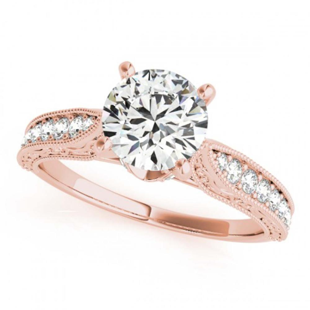 1.21 ctw VS/SI Diamond Ring 18K Rose Gold - REF-376P7X - SKU:27358