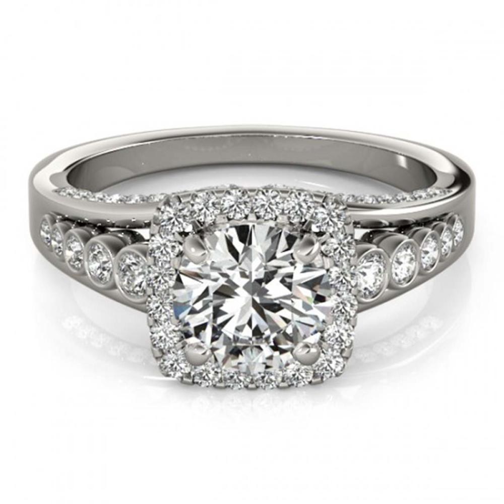 1.75 ctw VS/SI Diamond Halo Ring 18K White Gold - REF-424K2R - SKU:26943