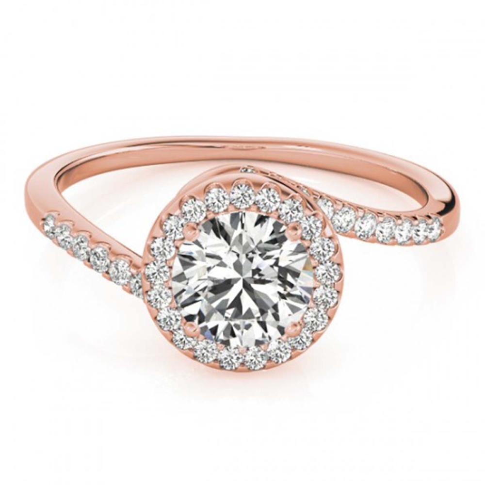 0.75 ctw VS/SI Diamond Bypass Ring 18K Rose Gold - REF-114H5W - SKU:27655