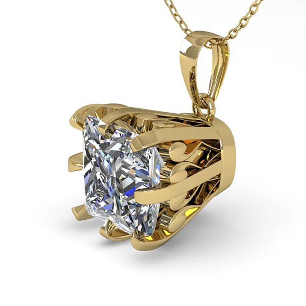 1 ctw VS/SI Princess Diamond Necklace 18K Yellow Gold - REF-280M2A - SKU:35719