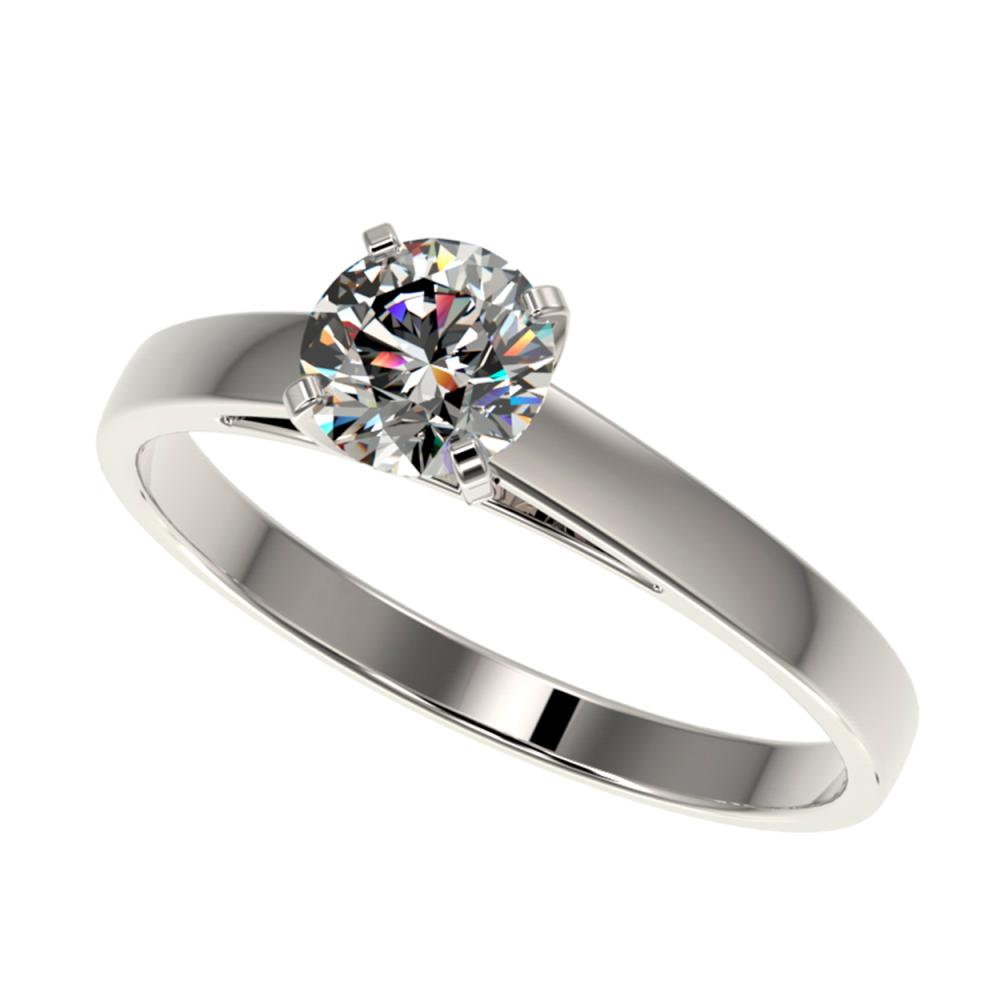 0.73 ctw H-SI/I Diamond Engagement Ring 10K White Gold - REF-97F5M - SKU:36473