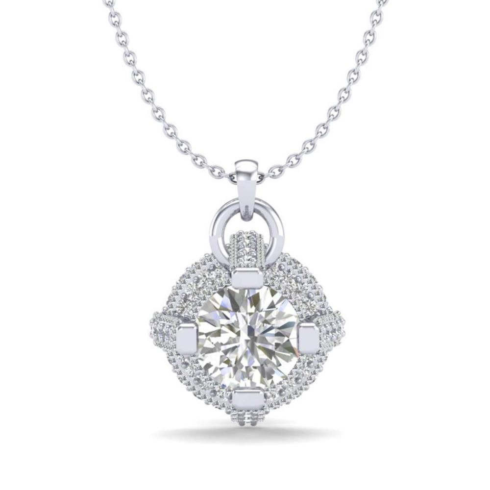 1.57 ctw VS/SI Diamond Stud Necklace 18K White Gold - REF-229N3P - SKU:36953