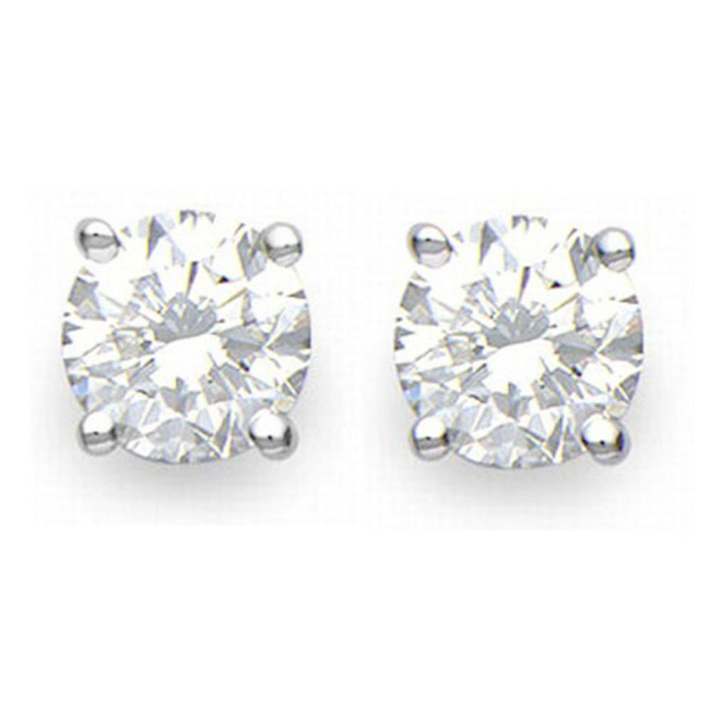 2.0 ctw VS/SI Diamond Stud Earrings 18K White Gold - REF-528H3W - SKU:13539