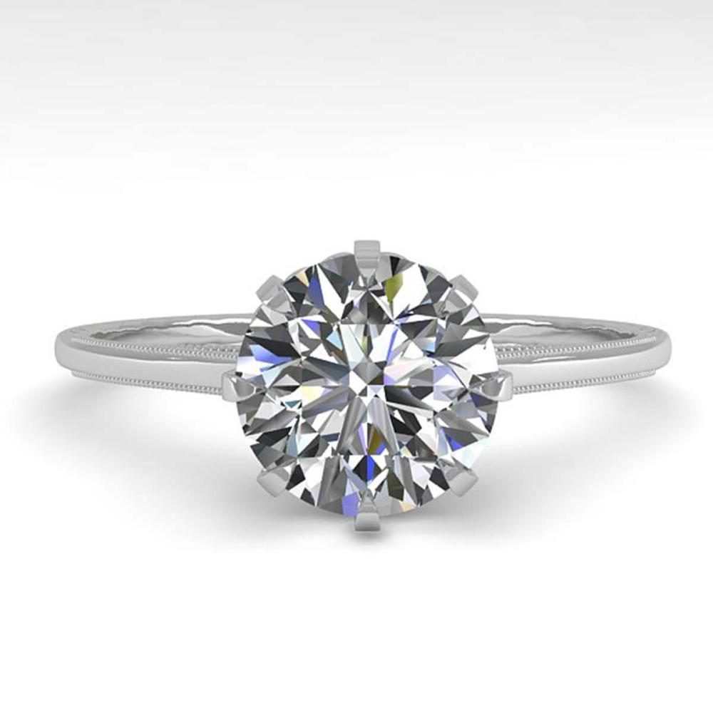 1.50 ctw VS/SI Diamond Engagement Ring 18K White Gold - REF-567H2W - SKU:35757