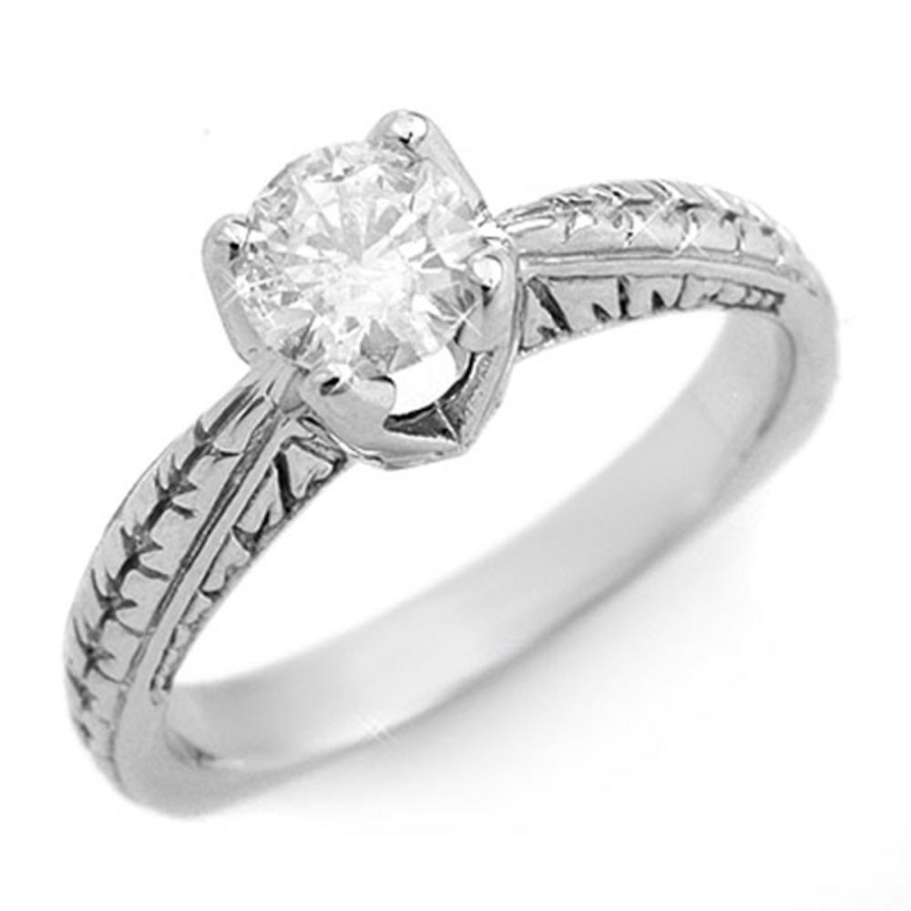 0.55 ctw VS/SI Diamond Solitaire Ring 14K White Gold - REF-105W5F - SKU:11474