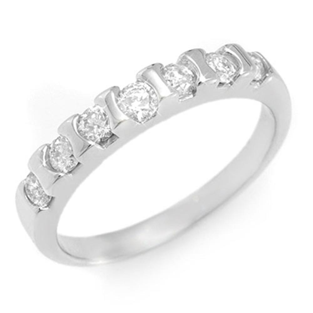0.65 ctw VS/SI Diamond Ring 18K White Gold - REF-61A8N - SKU:11436