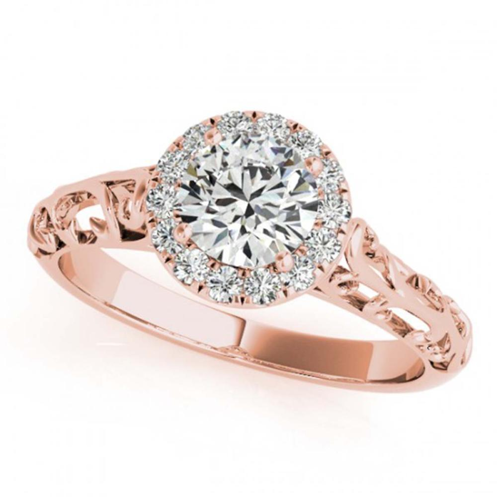 0.62 ctw VS/SI Diamond Ring 18K Rose Gold - REF-110A4N - SKU:27325