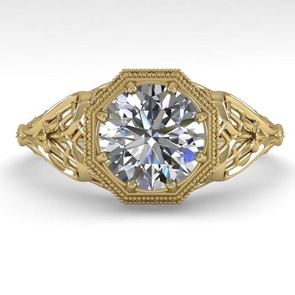 1.50 ctw VS/SI Diamond Engagement Ring 18K Yellow Gold - REF-547A7N - SKU:36052