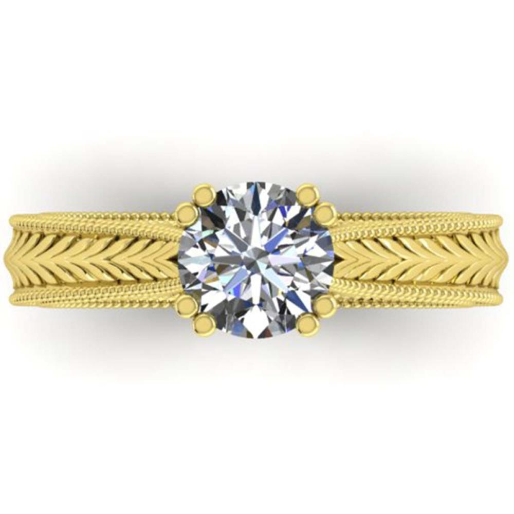 1.06 ctw Solitaire VS/SI Diamond Ring 14K Yellow Gold - REF-304A2N - SKU:38537
