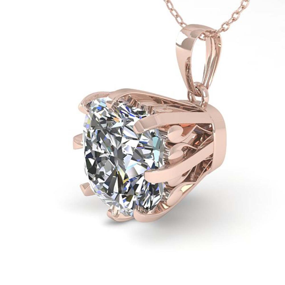 1 ctw VS/SI Cushion Diamond Necklace 18K Rose Gold - REF-297H2W - SKU:35720