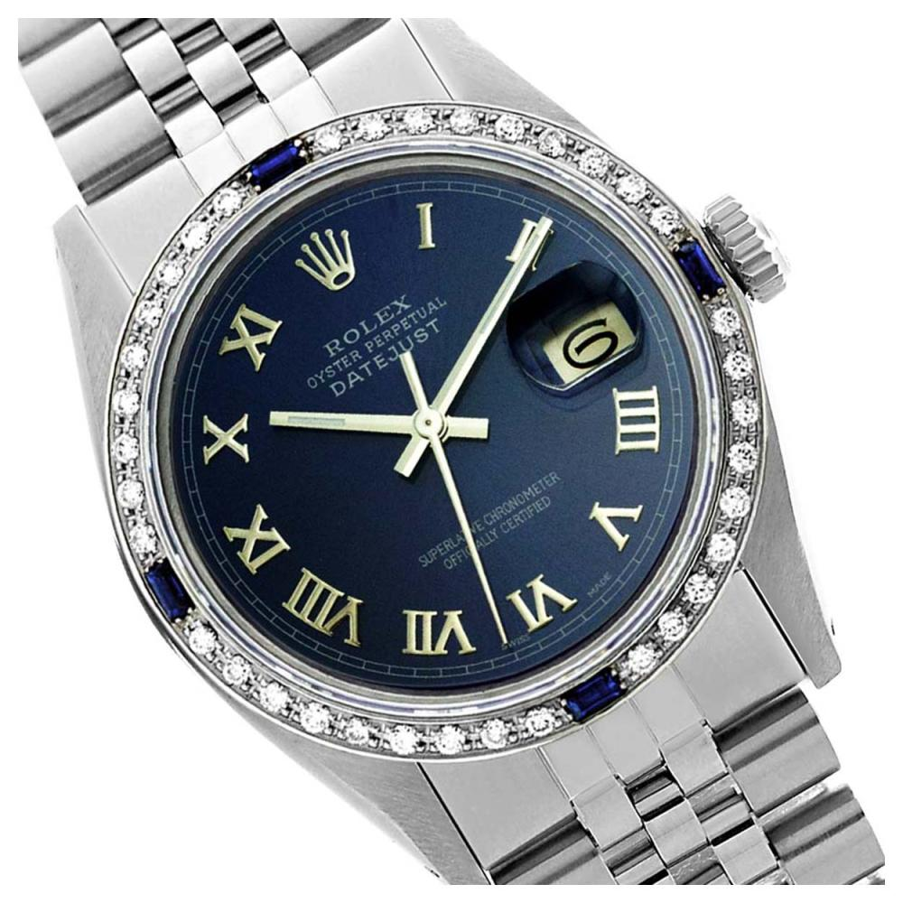 Rolex Ladies Stainless Steel, Roman Dial with Diam/Sapphire Bezel, Sapphire Crystal - REF-419W6H