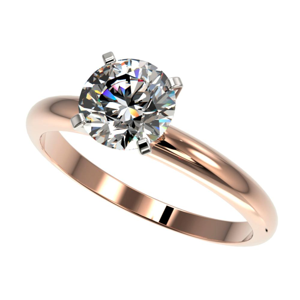 1.55 ctw H-SI/I Diamond Engagement Ring 10K Rose Gold - REF-330A2N - SKU:36438