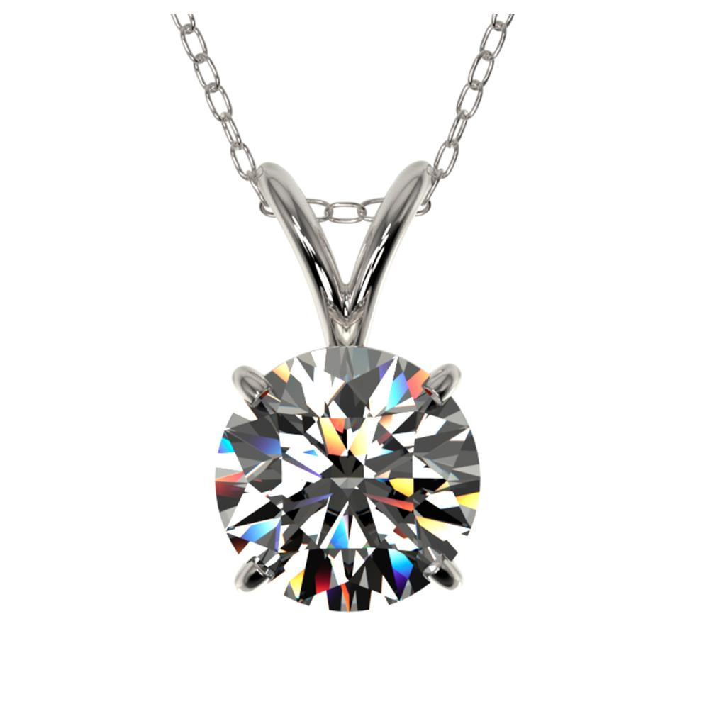 1.01 ctw H-SI/I Diamond Necklace 10K White Gold - REF-180R2H - SKU:36753