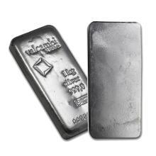 One piece 1 kilo 0.999 Fine Silver Bar Valcambi with Assay