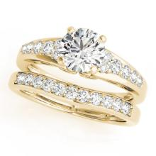 1.25 CTW Certified VS/SI Diamond Solitaire 2pc Wedding Set  14K Gold - REF#-187R8H-31717