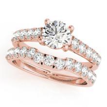 2.52 CTW Certified VS/SI Diamond 2pc Set Solitaire Wedding  14K Gold - REF#-579A6X-32094