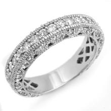 1.10 CTW Certified VS/SI Diamond Band 18K White Gold - REF-127N3A - 14314