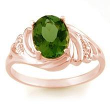 2.54 ctw Green Tourmaline & Diamond Ring 14K Rose Gold - REF#-43H6M-11477