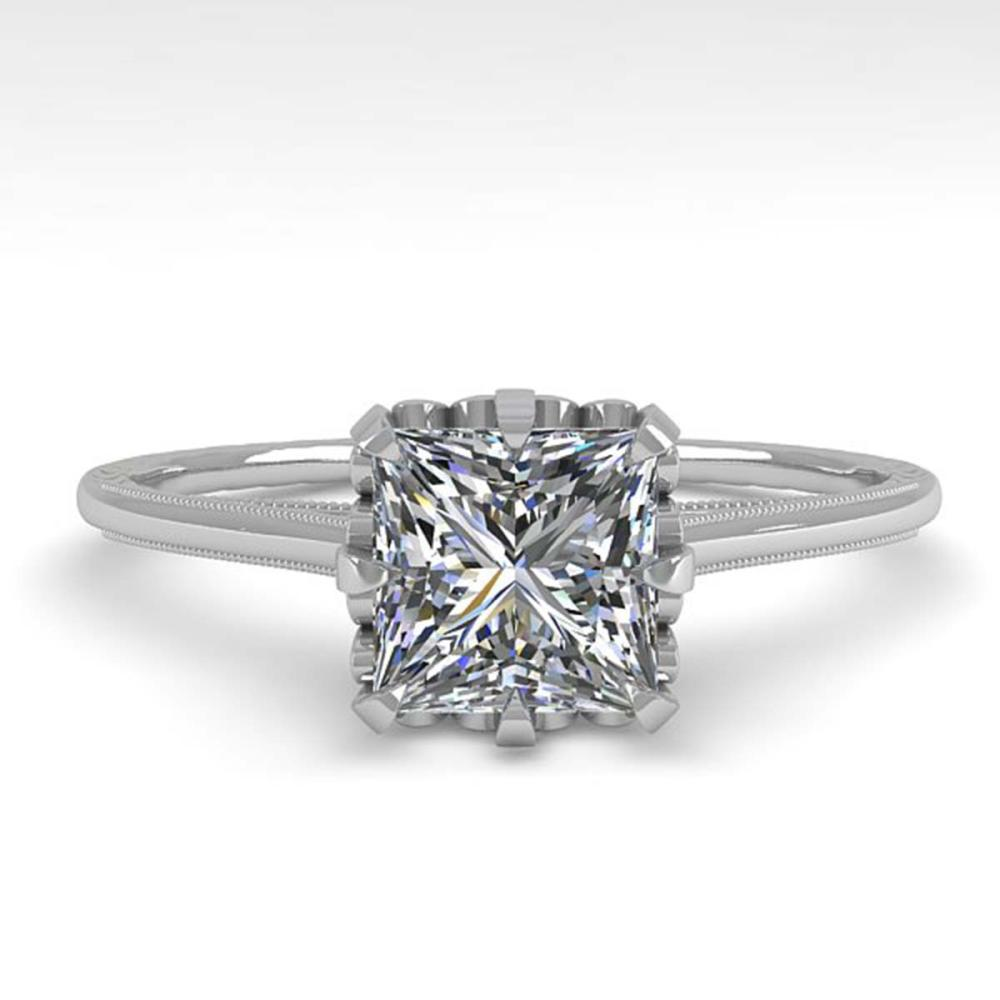 1.0 ctw VS/SI Princess Diamond Ring 18K White Gold - REF-322Y5X - SKU:35751