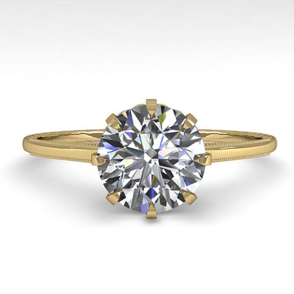 1.51 ctw VS/SI Diamond Ring 18K Yellow Gold - REF-567Y2X - SKU:35761