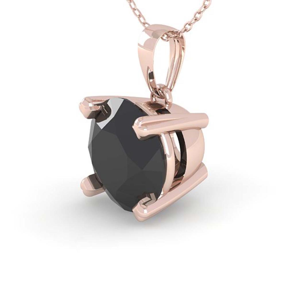 1 ctw Black Diamond Necklace 18K Rose Gold - REF-43X2R - SKU:32354
