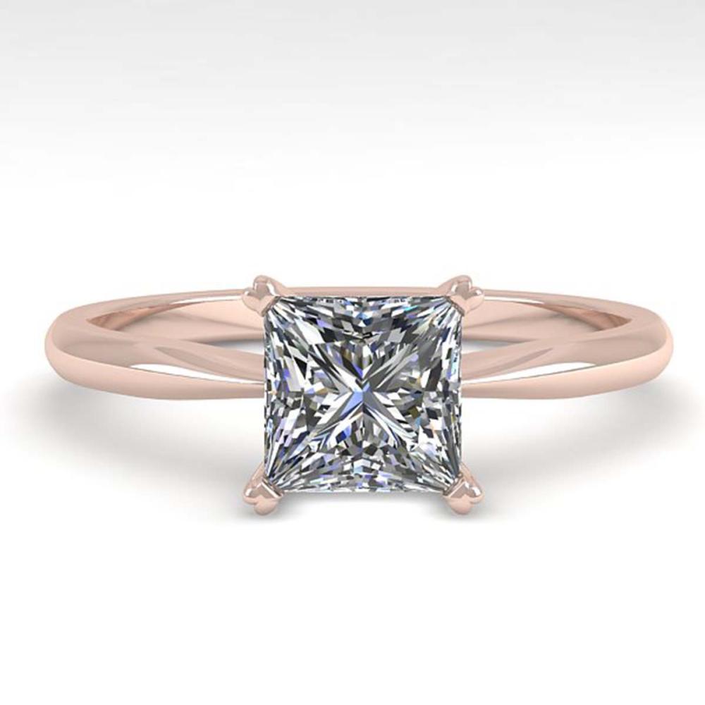 1 ctw VS/SI Princess Cut Diamond Ring 14K Rose Gold - REF-297V2Y - SKU:38460