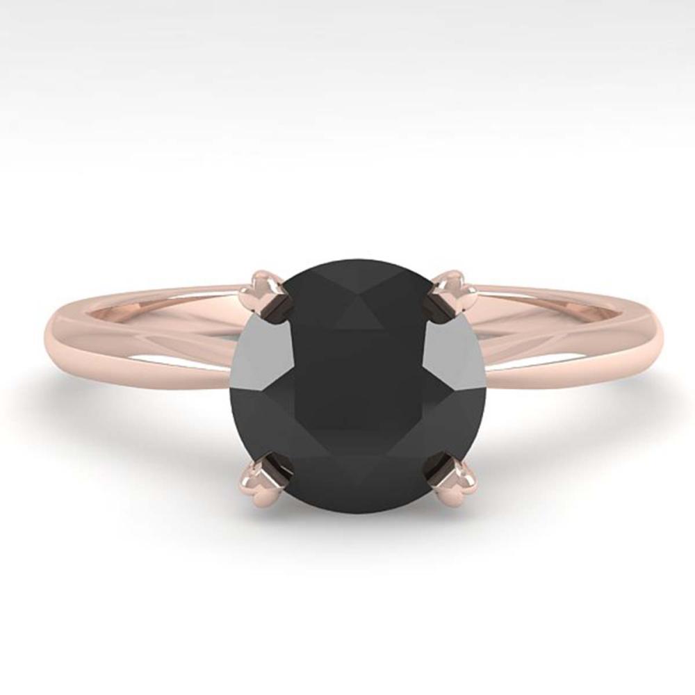 1.50 ctw Black Diamond Ring 18K Rose Gold - REF-53F5N - SKU:32438