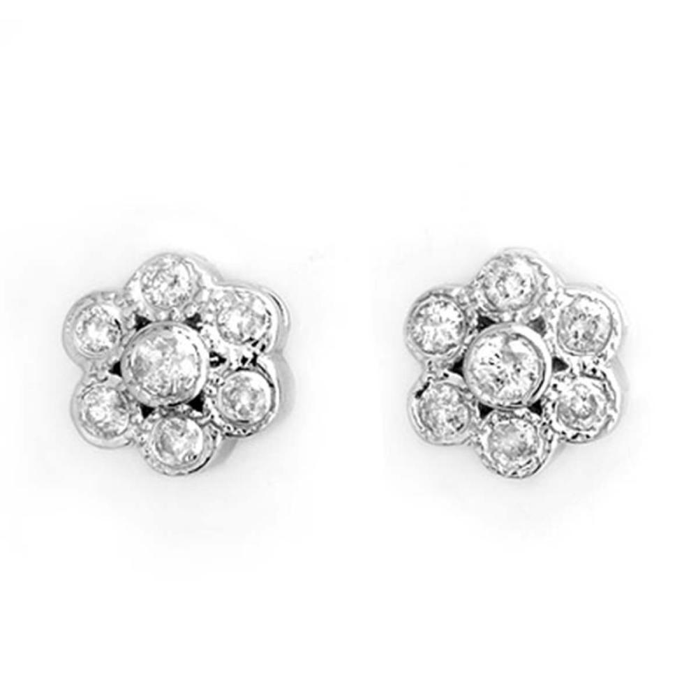 0.50 ctw VS/SI Diamond Earrings 14K White Gold - REF-40V9Y - SKU:10671
