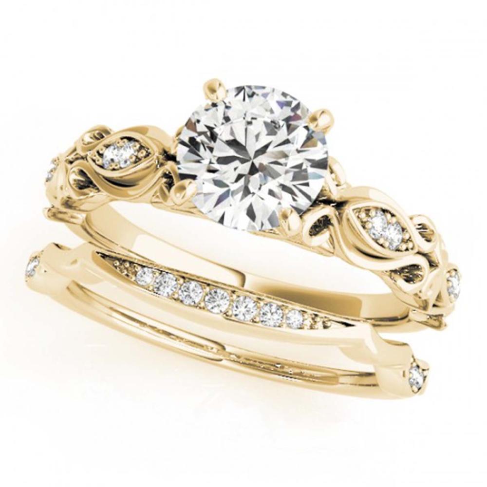 0.96 ctw VS/SI Diamond 2pc Wedding Set 14K Yellow Gold - REF-155X4R - SKU:31456