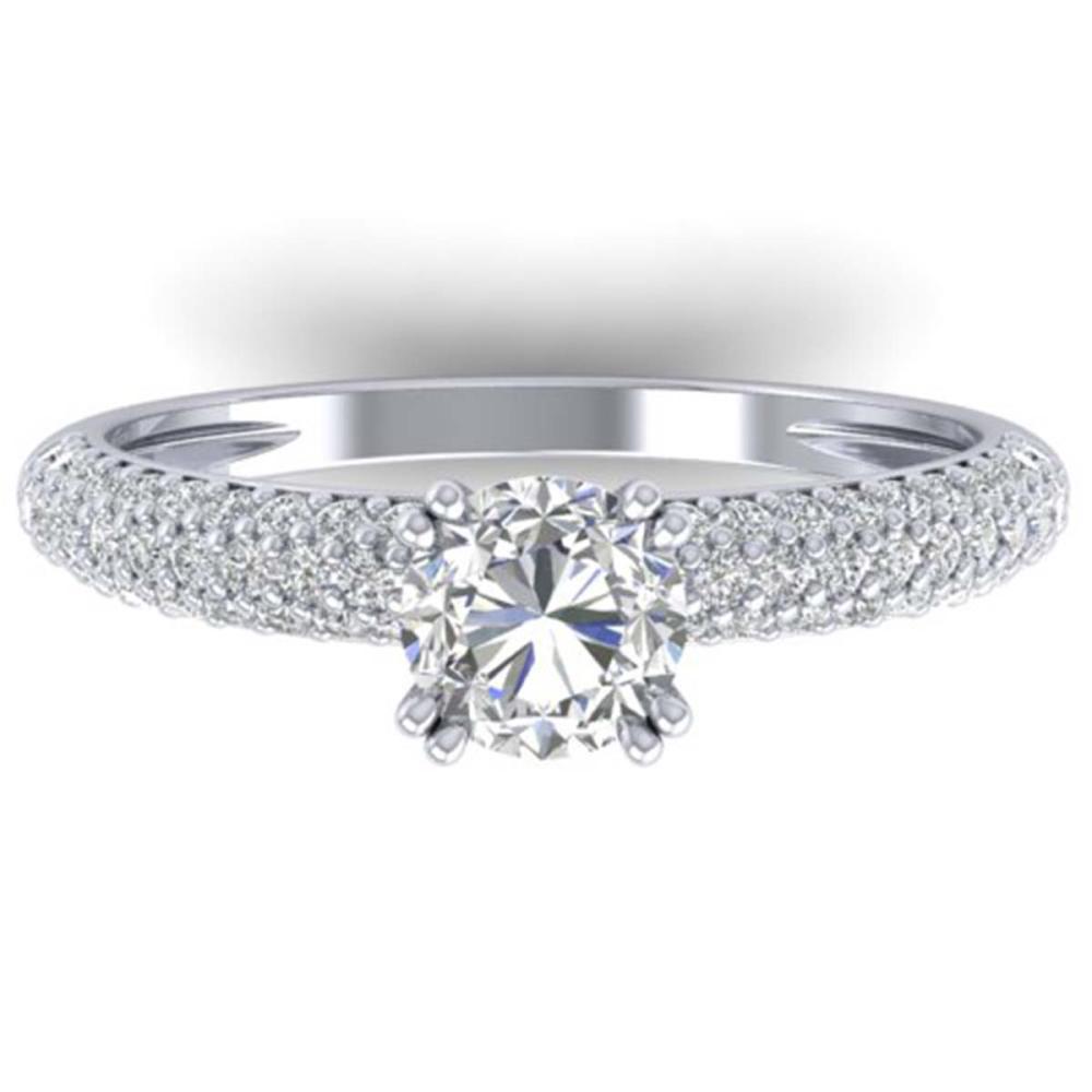 1.40 ctw VS/SI Diamond Art Deco Ring 14K White Gold - REF-206N2A - SKU:30411