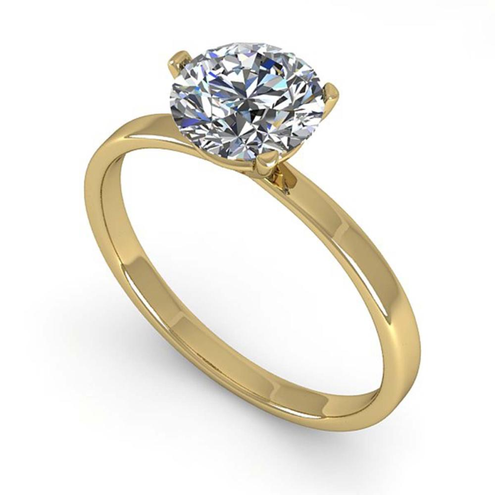 1.0 ctw VS/SI Diamond Ring 14K Yellow Gold - REF-315F2N - SKU:38327