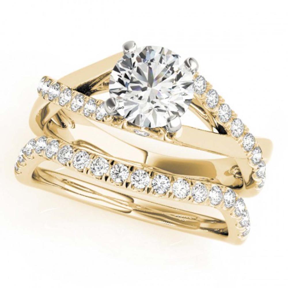 1.06 ctw VS/SI Diamond 2pc Wedding Set 14K Yellow Gold - REF-115X9R - SKU:31621