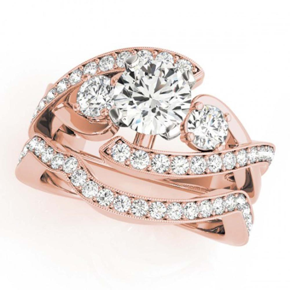 2.04 ctw VS/SI Diamond Bypass 2pc Wedding Set 14K Rose Gold - REF-336W2H - SKU:31776