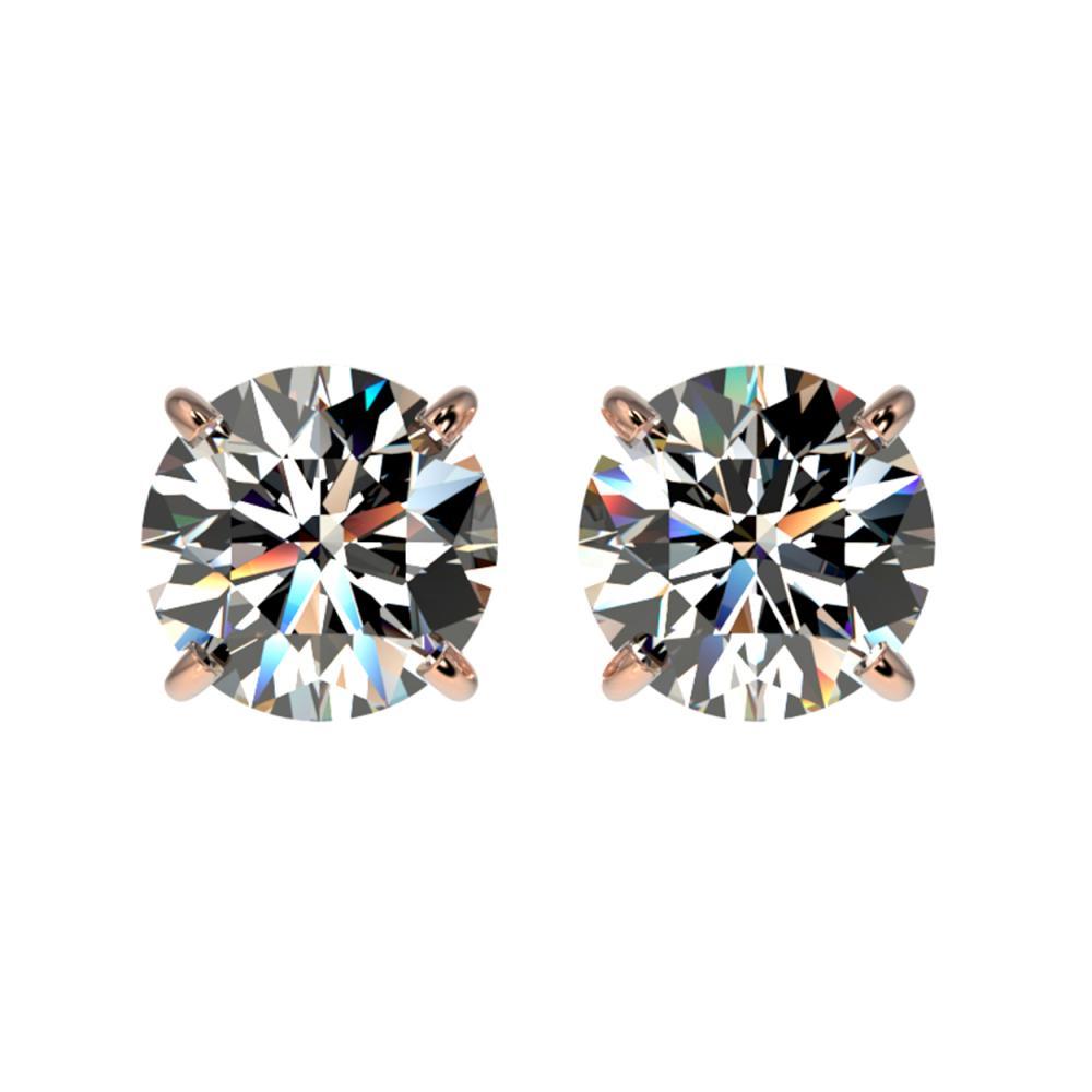 1.57 ctw H-SI/I Diamond Stud Earrings 10K Rose Gold - REF-183Y2X - SKU:36607