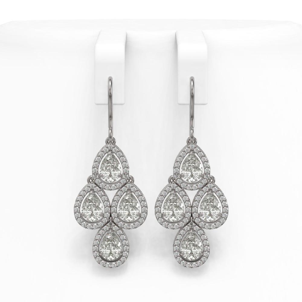 5.85 ctw Pear Diamond Earrings 18K White Gold - REF-817R6K - SKU:42827