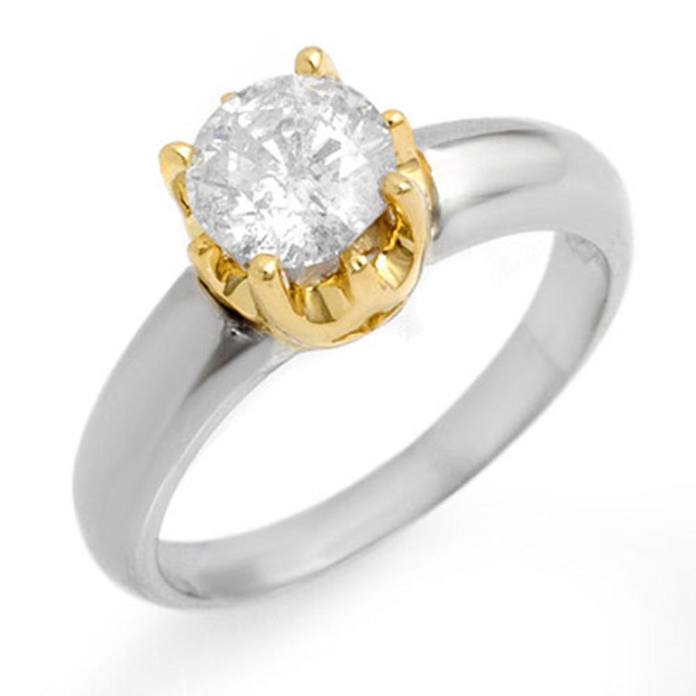 1.0 ctw VS/SI Diamond Solitaire Ring 14K 2-Tone Gold - REF-291H3M - SKU:11135