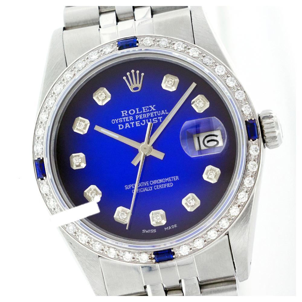 Rolex Ladies Stainless Steel, Diam Dial & Diam/Sapphire Bezel, Sapphire Crystal - REF-431H4W