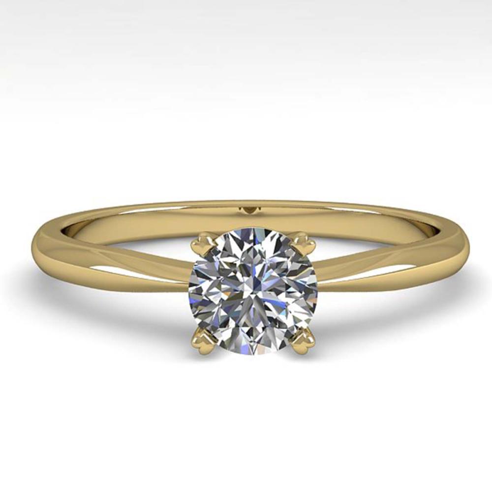 0.50 ctw VS/SI Diamond Ring 14K Yellow Gold - REF-84Y2X - SKU:38447