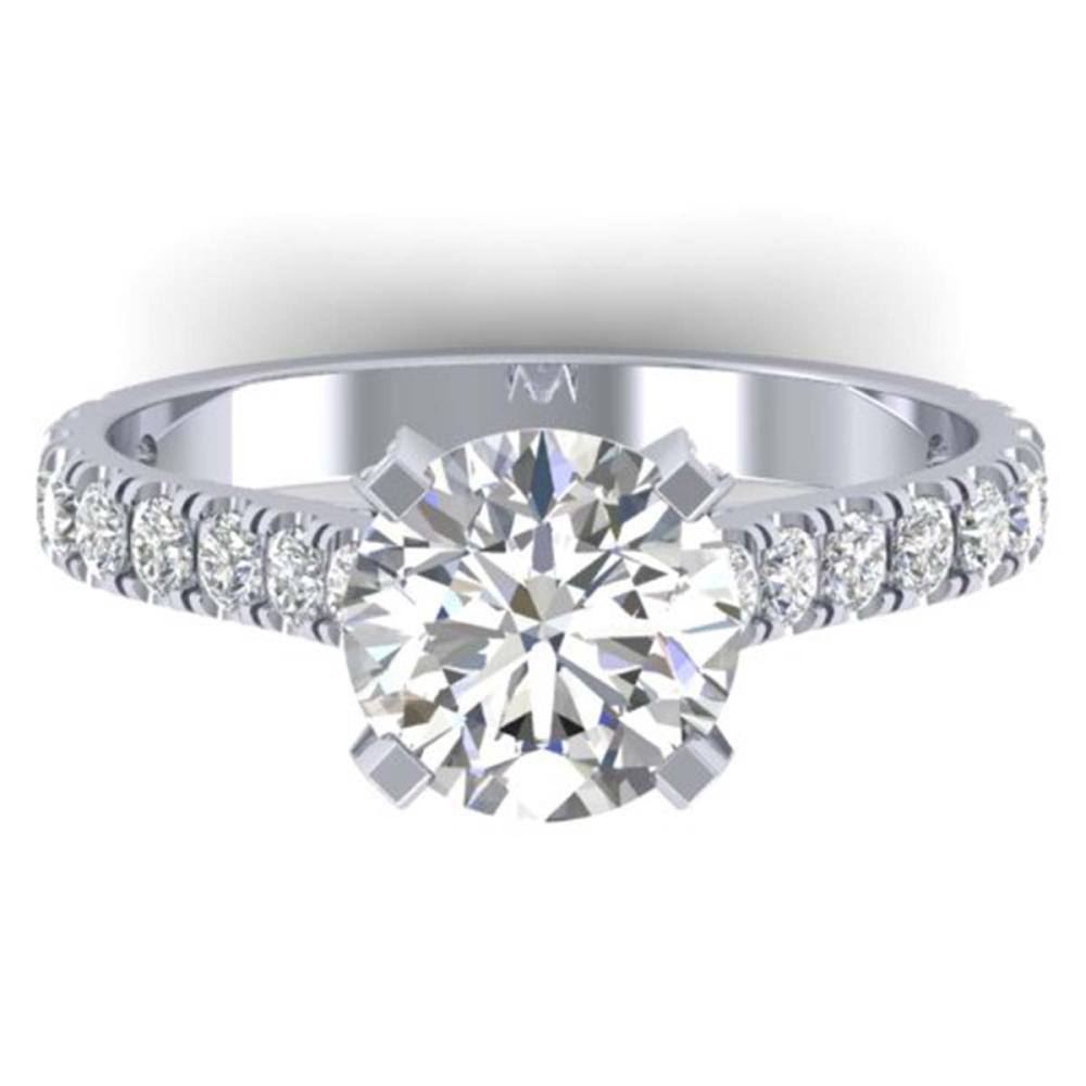 2.4 ctw VS/SI Diamond Solitaire Art Deco Ring 14K White Gold - REF-589H7M - SKU:30441