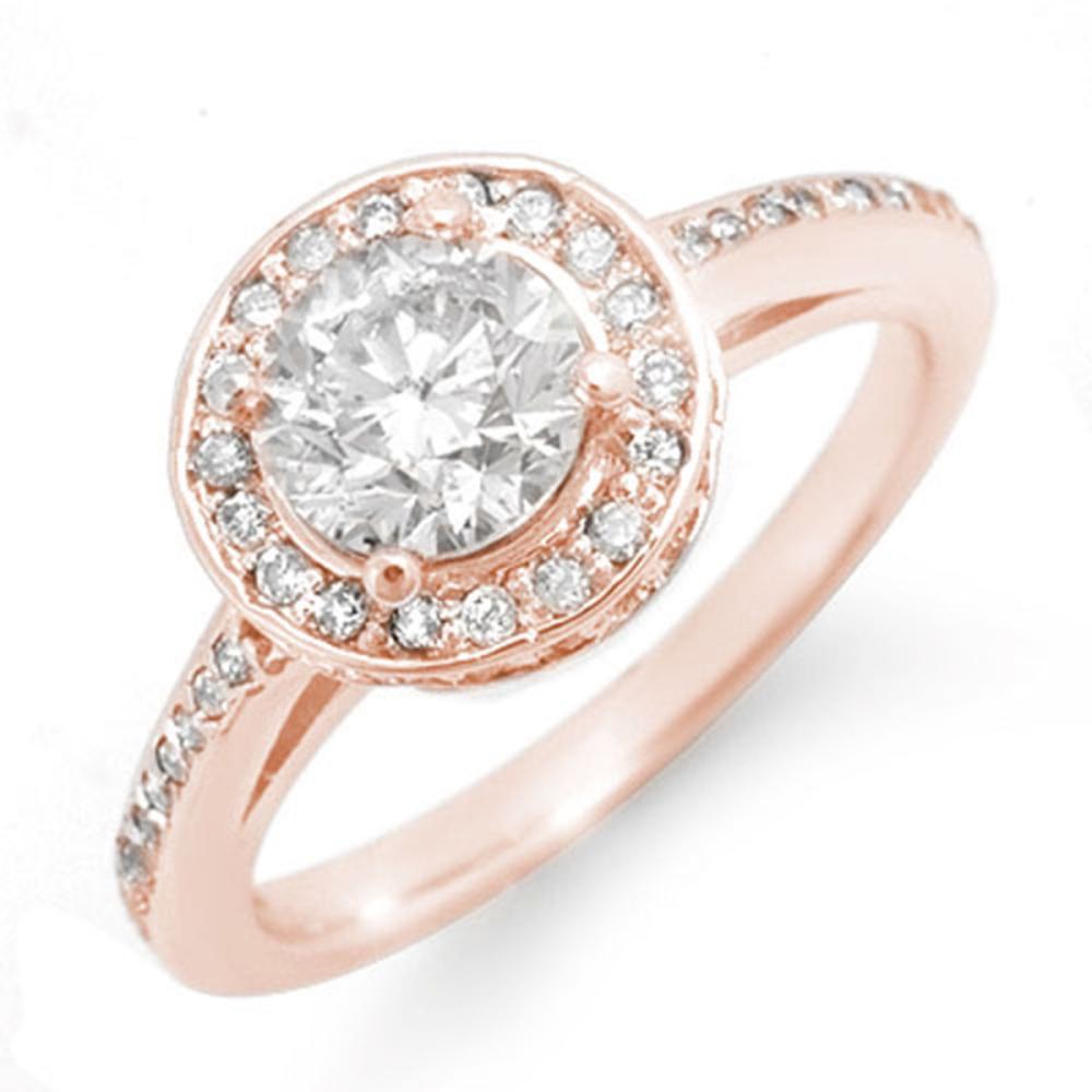 1.75 ctw VS/SI Diamond Ring 14K Rose Gold - REF-429X8R - SKU:11764