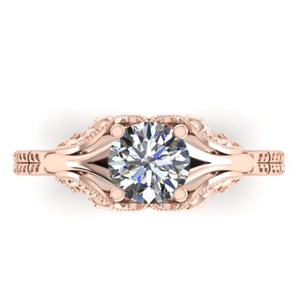 1 ctw Solitaire VS/SI Diamond Ring 14K Rose Gold - REF-307X2R - SKU:38539