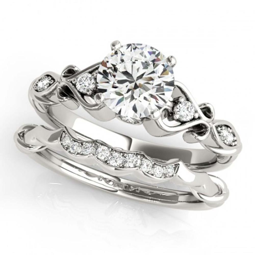 1.22 ctw VS/SI Diamond 2pc Wedding Set 14K White Gold - REF-281H6M - SKU:31571