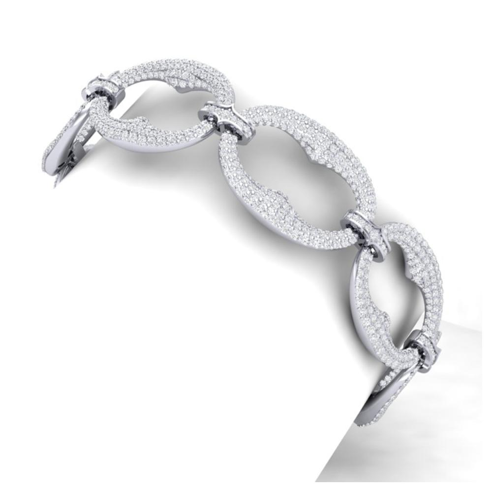 10 ctw VS/SI Diamond Bracelet 18K White Gold - REF-772W5H - SKU:40058