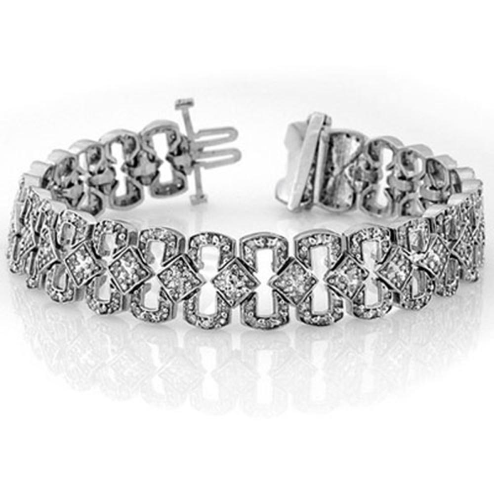 3.0 ctw VS/SI Diamond Bracelet 14K White Gold - REF-309Y3X - SKU:10075