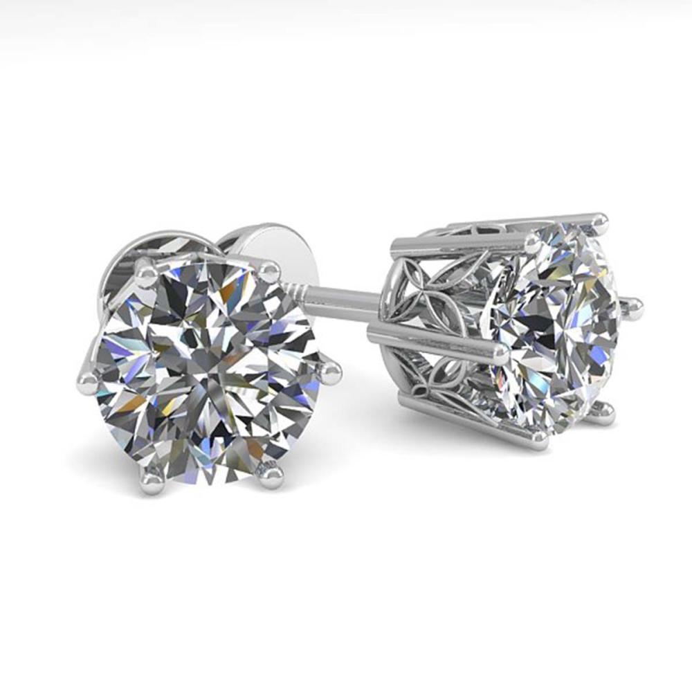 2.03 ctw VS/SI Diamond Stud Earrings 18K White Gold - REF-546Y9X - SKU:35847