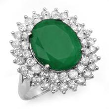 10.83 ctw Emerald & Diamond Ring 18K White Gold - REF#-307V3Y-12962