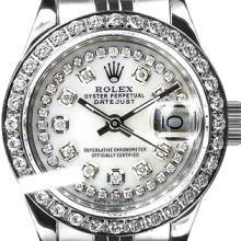 Rolex Ladies Stainless Steel, Diamond Dial & Diamond Bezel, Saph Crystal - REF-363W3K