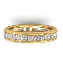 1.33 CTW CERTIFIED VS/SI DIAMOND ETERNITY BAND MEN'S 14K SIZE 10 Gold - REF#-127V6Y-30332