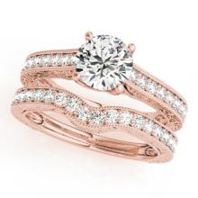 2.17 CTW Certified VS/SI Diamond Solitaire 2Pc Wedding Set 14K Gold - REF-560F3M - 31674