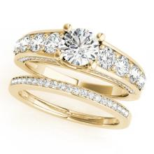 3.25 CTW Certified VS/SI Diamond 2Pc Set Solitaire Wedding 14K Gold - REF-640Y5X - 32101